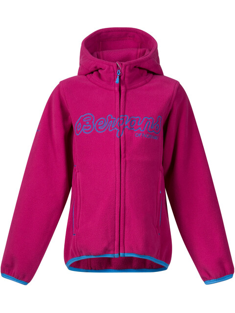 Bergans Kids Bryggen Jacket Cerise/Light Winter Sky